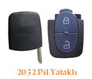 Audi Sustalı Anahtar Uyumlu 2 Tuş 2032 Pil Yataklı Kumanda Kabı