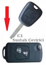 Citroen C3 Sustalı Anahtar Çevirici