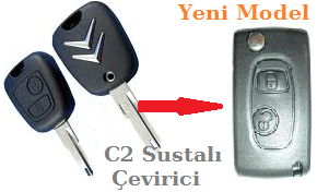 Citroen C2 Sustalı Anahtar