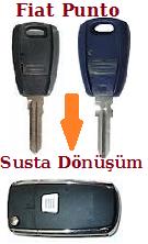 Fiat Punto Sustalı Anahtar Dönüşüm Kabı