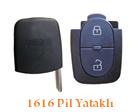 Audi Anahtar Uyumlu 2 tuş sustalı çakı kumanda kasası 1616 pil yataklı modeli