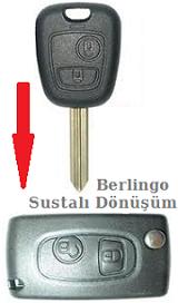 Berlingo sustalı anahtar dönüşümü