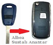 Fiat Albea Anahtar Uyumlu Sustalı Kumanda Kabı