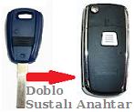 Fiat Doblo Tek Tuşlu Anahtarı Sustalı Anahtara Çevirme