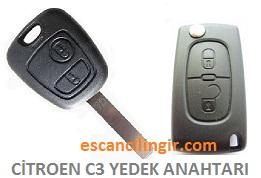 Citroen C3 Oto Anahtarı Çoğaltma