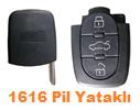 Audi Sustalı Anahtar Uyumlu 3 tuş 1616 pil Yataklı Anahtar Kabı
