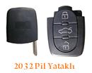 Audi Anahtar Uyumlu 3 Tuşlu Sustalı Anahtar Muadili